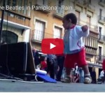 Busking the Beatles in Pamplona video